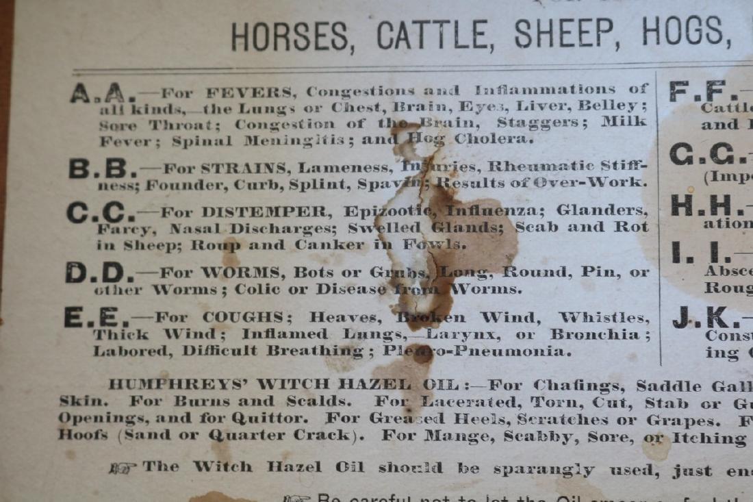 1888 Wood Box - Humphrey's Veterinary Specifics - 7