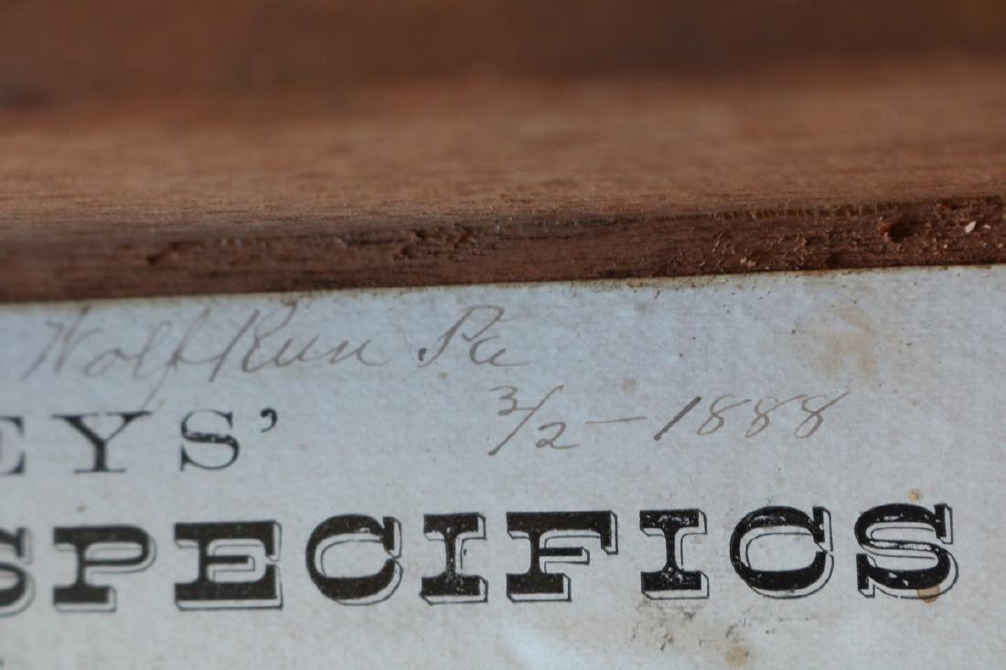 1888 Wood Box - Humphrey's Veterinary Specifics - 9