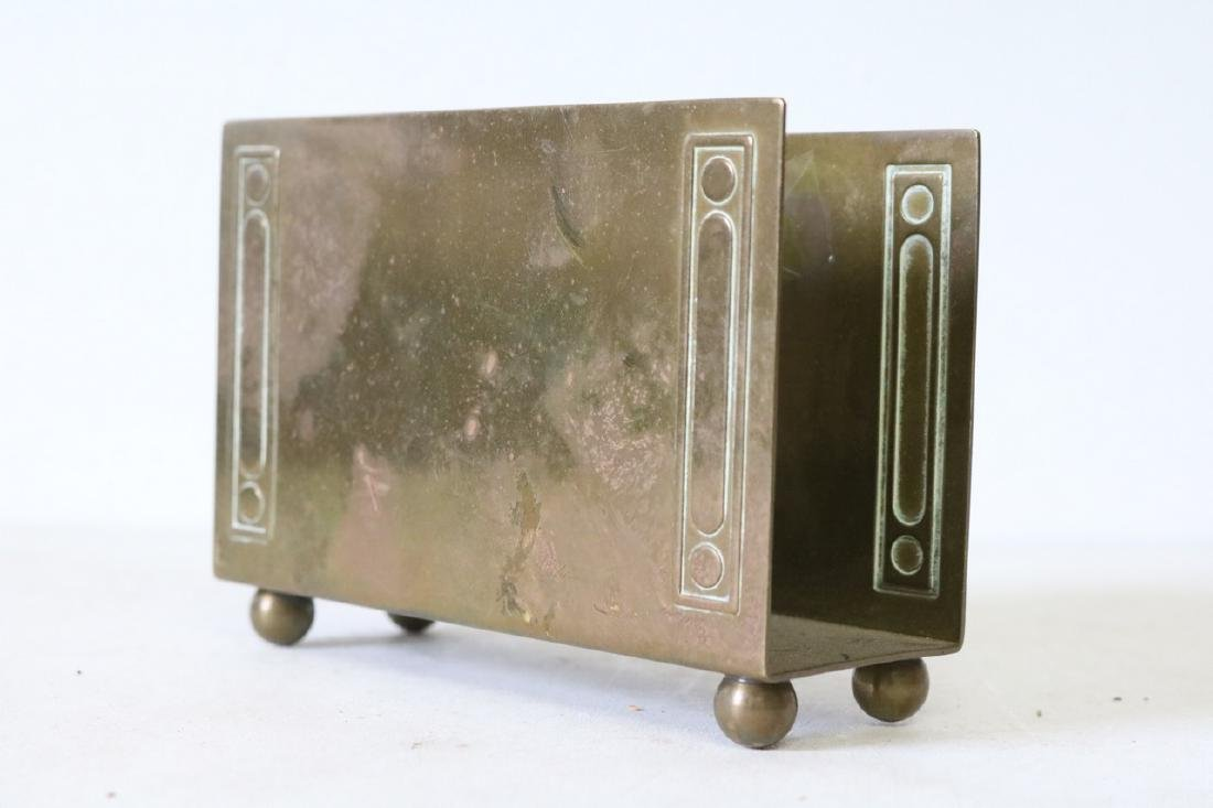 Arts and Crafts Bradley and Hubbard Letter Holder and - 2