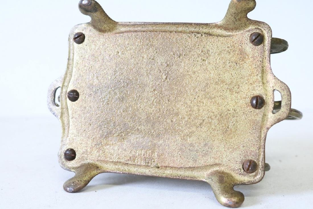 Art Nouveau 2 section letter holder in brass - 5