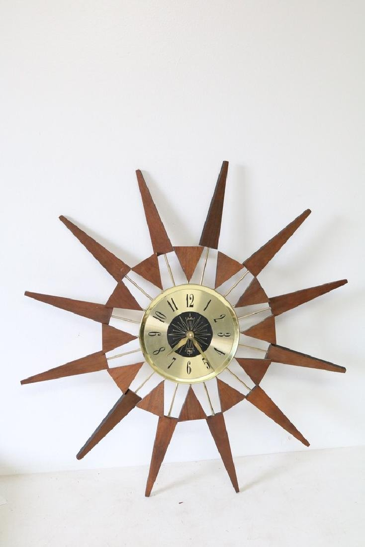 Julius RH Mid Century Sunburst Clock