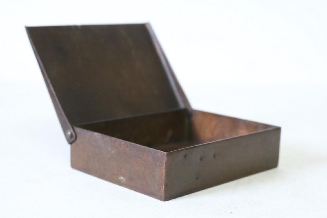 Art Deco Copper Cigarette Box - 2