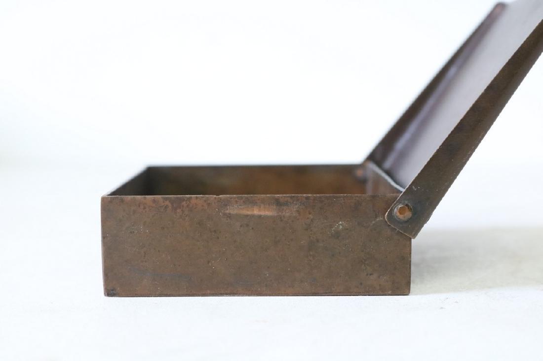 Art Deco Copper Cigarette Box - 3