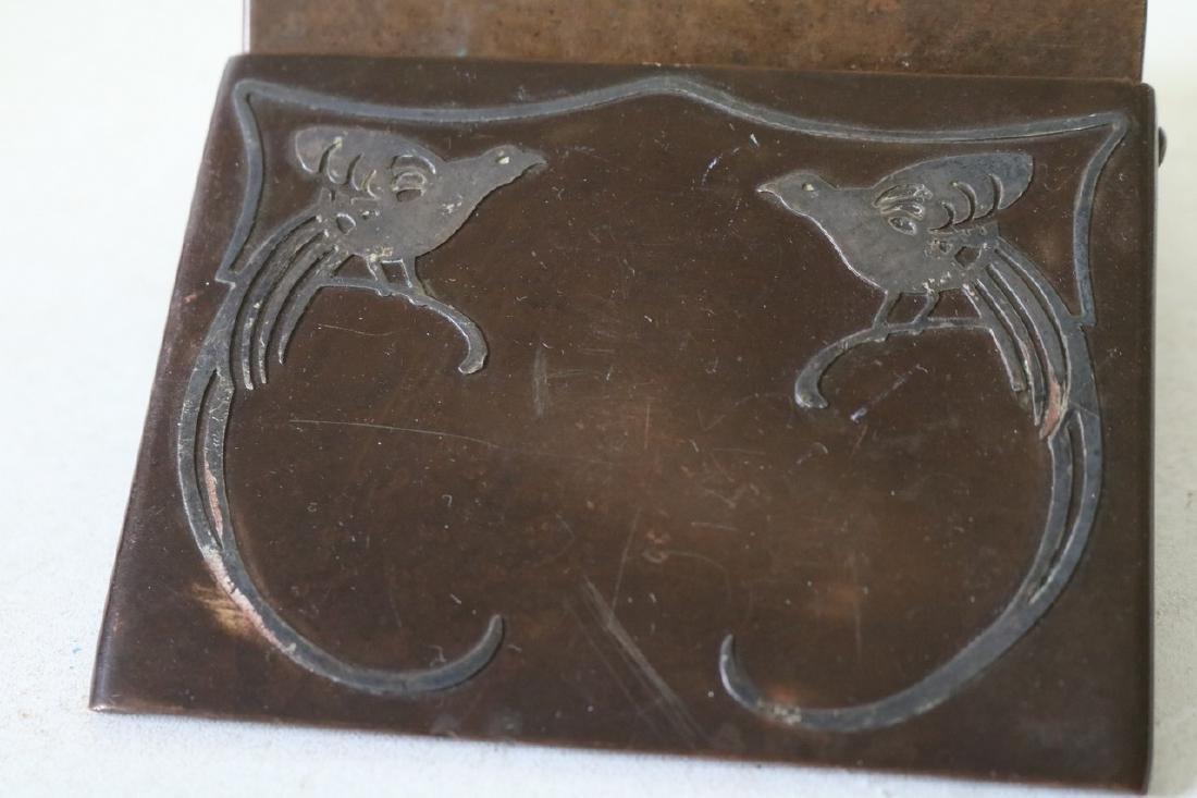 Art Deco Copper Cigarette Box - 4