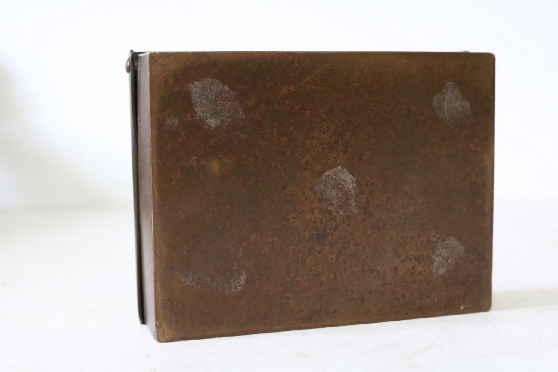 Art Deco Copper Cigarette Box - 5