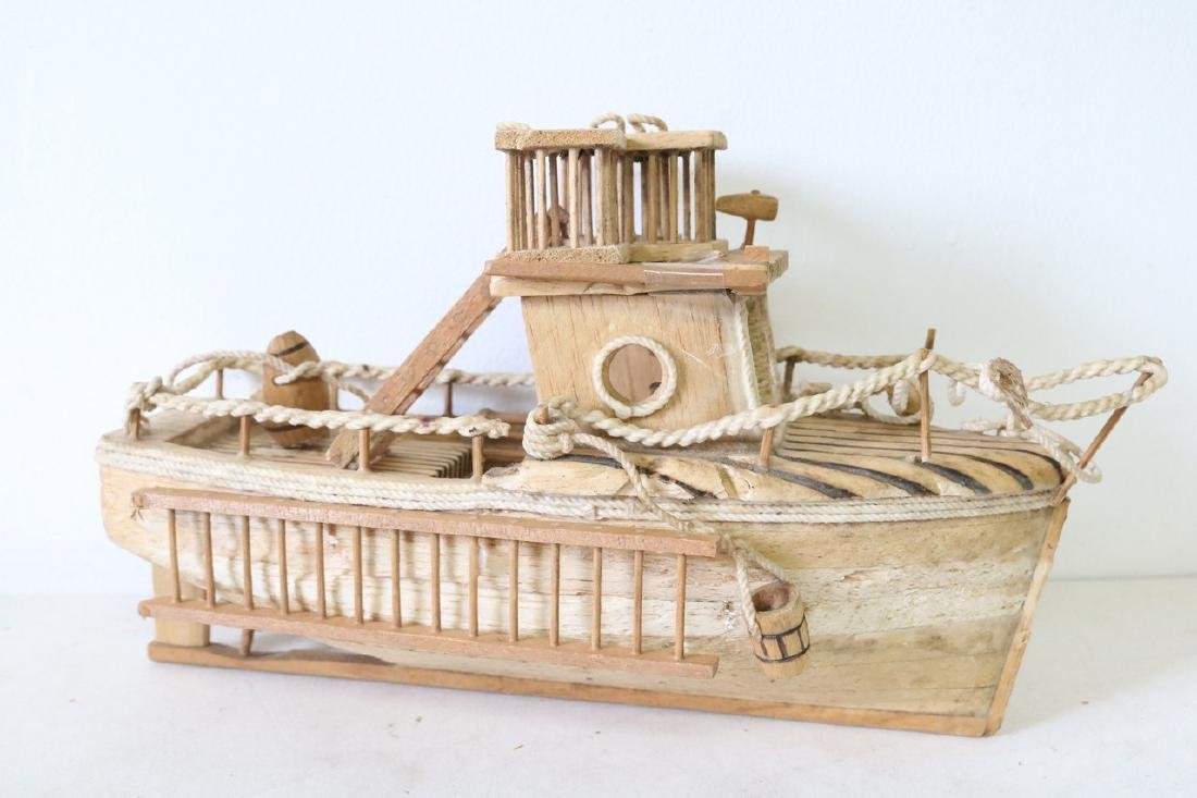 Prison Art Fishing Boat and Accessories