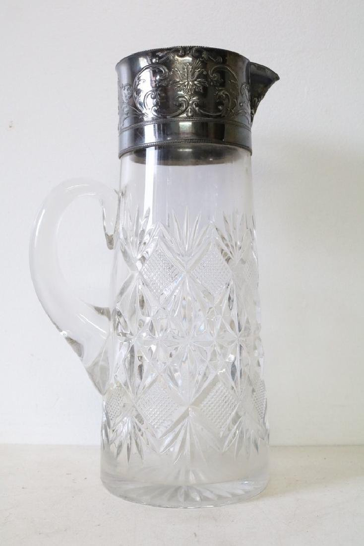 Victorian Pressed Glass Water Pitcher