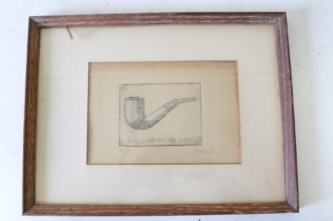 Rene Magritte Etching