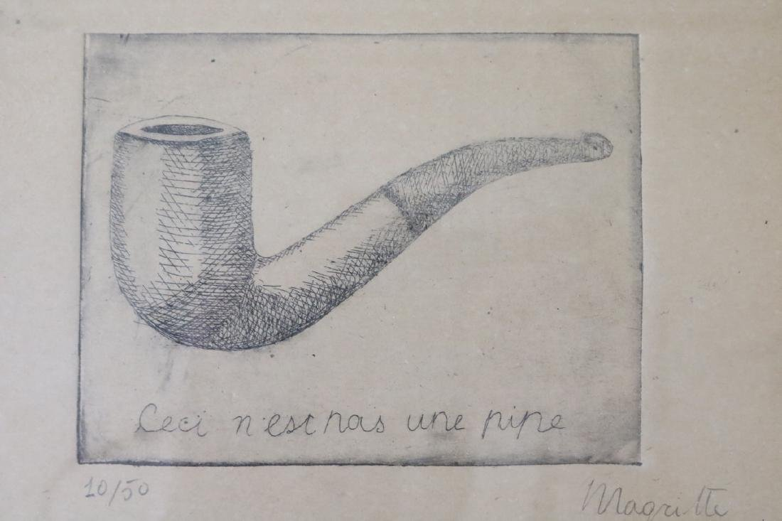 Rene Magritte Etching - 2