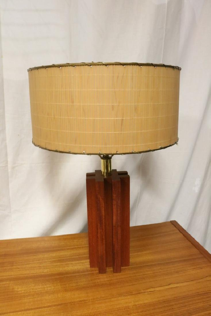 Danish Teak Mid-Century Table Lamp