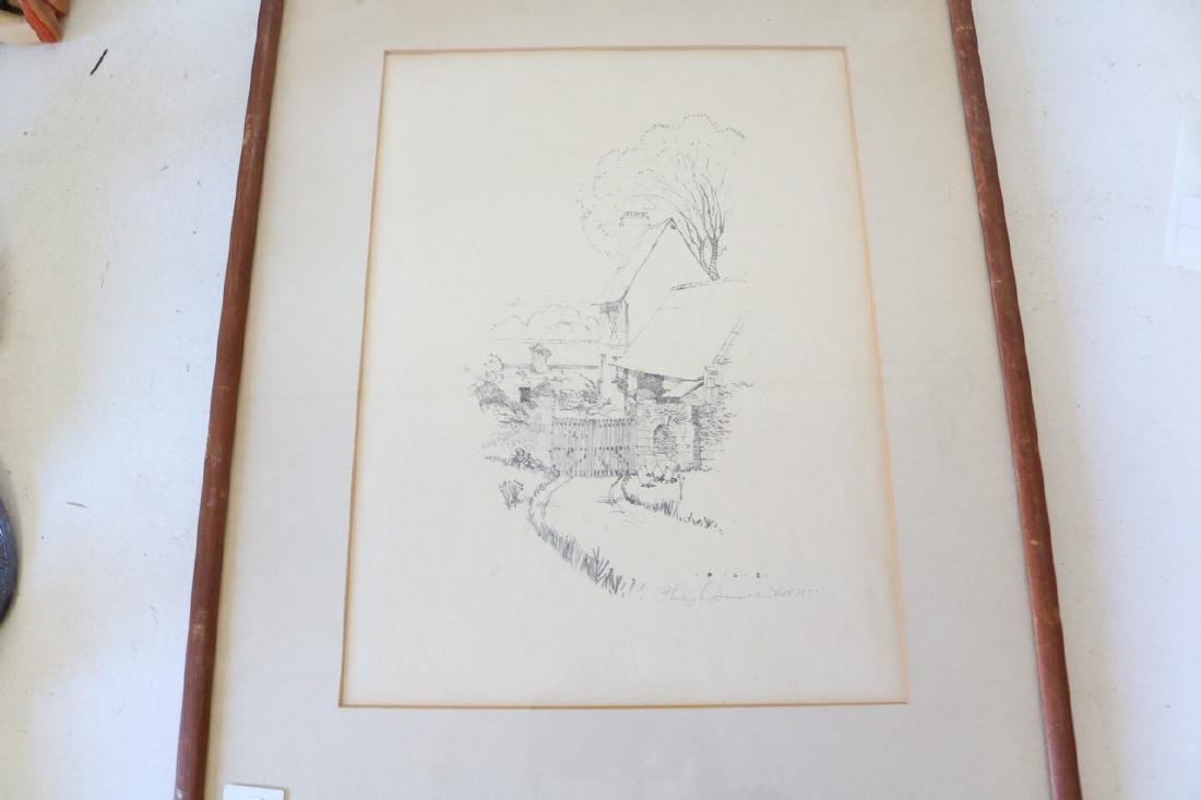 1931 Artist signed Pencil Drawing