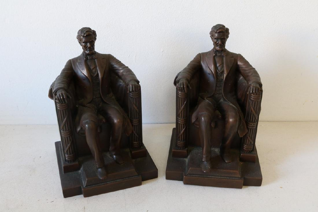 Pair Bronze Lincoln Book Ends by D.C. French