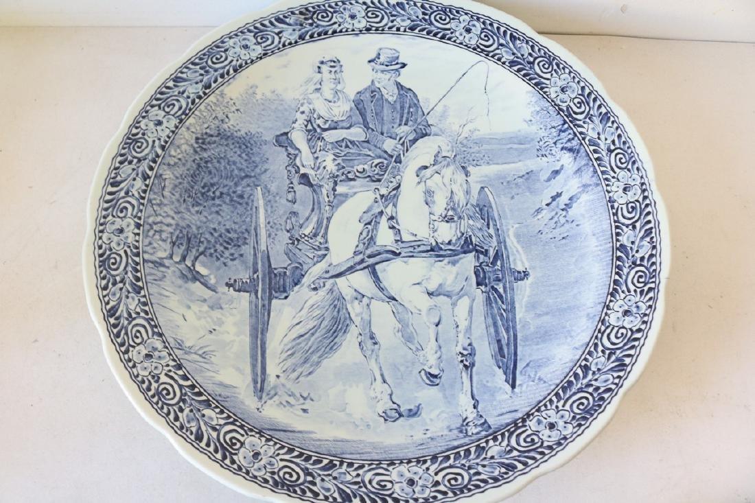 Delfts Blue Platter by Boch Belgium