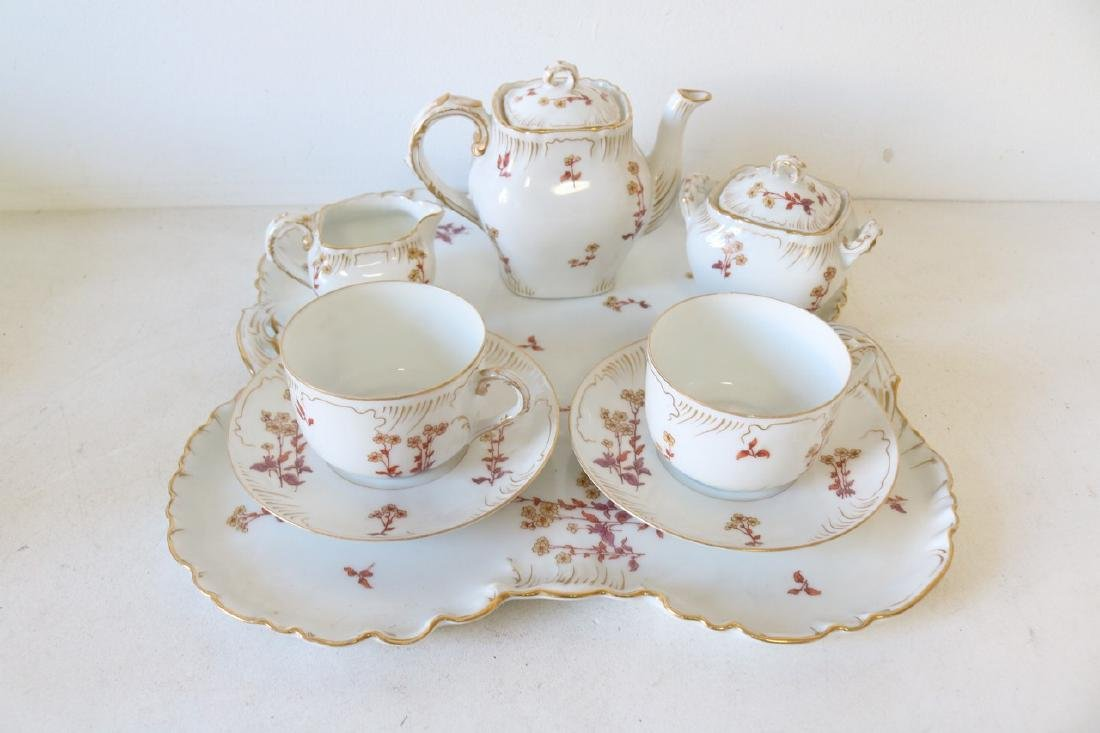 Limoges Tea for 2 with Serving Tray