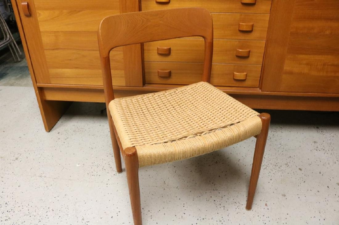 Mid-Century Danish Chair with Rope Weave Seat