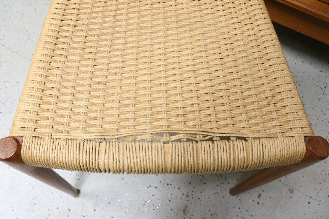 Mid-Century Danish Chair with Rope Weave Seat - 2