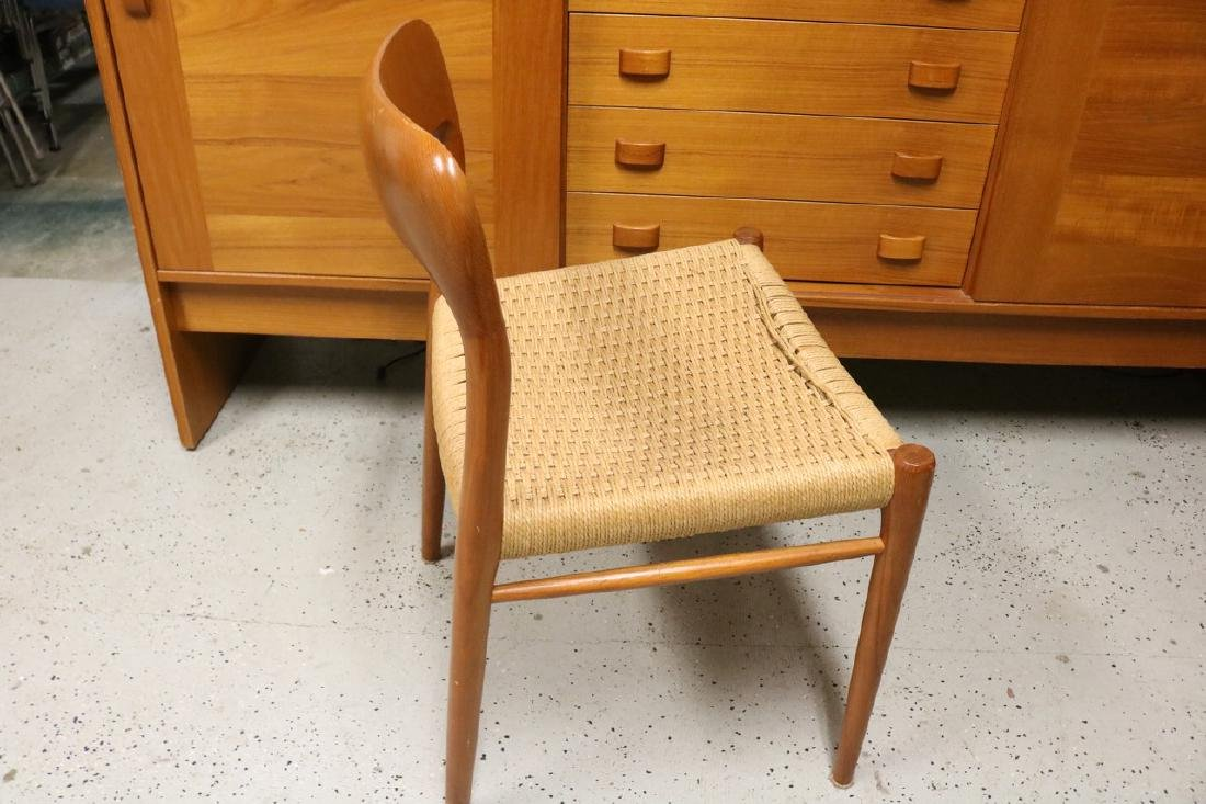 Mid-Century Danish Chair with Rope Weave Seat - 3