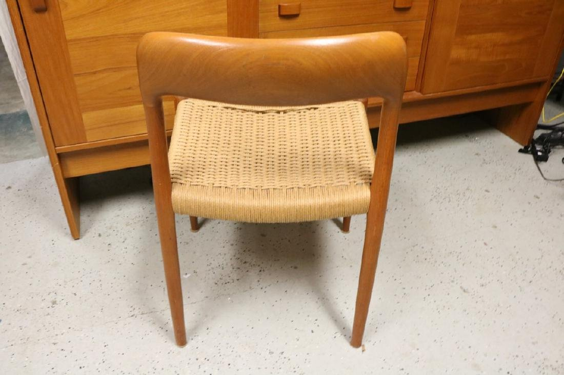 Mid-Century Danish Chair with Rope Weave Seat - 4