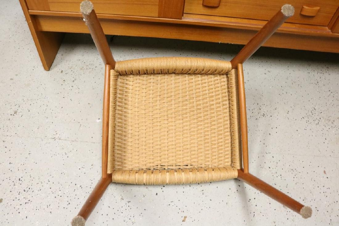 Mid-Century Danish Chair with Rope Weave Seat - 6