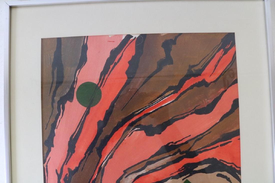 1972 Callebaut Acrylic Painting - 4