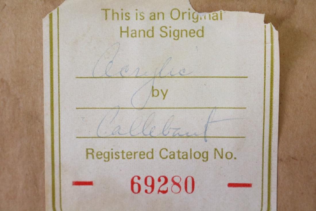 1972 Callebaut Acrylic Painting - 5