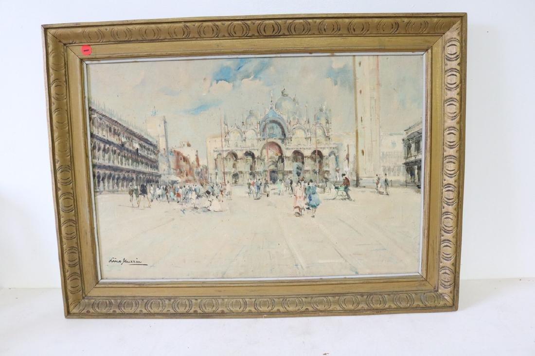 Luis Muzziu Street Scene in Paris, Oil on Canvas