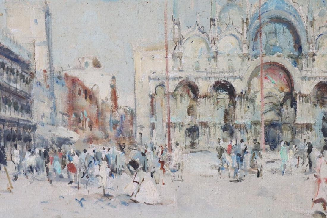 Luis Muzziu Street Scene in Paris, Oil on Canvas - 2