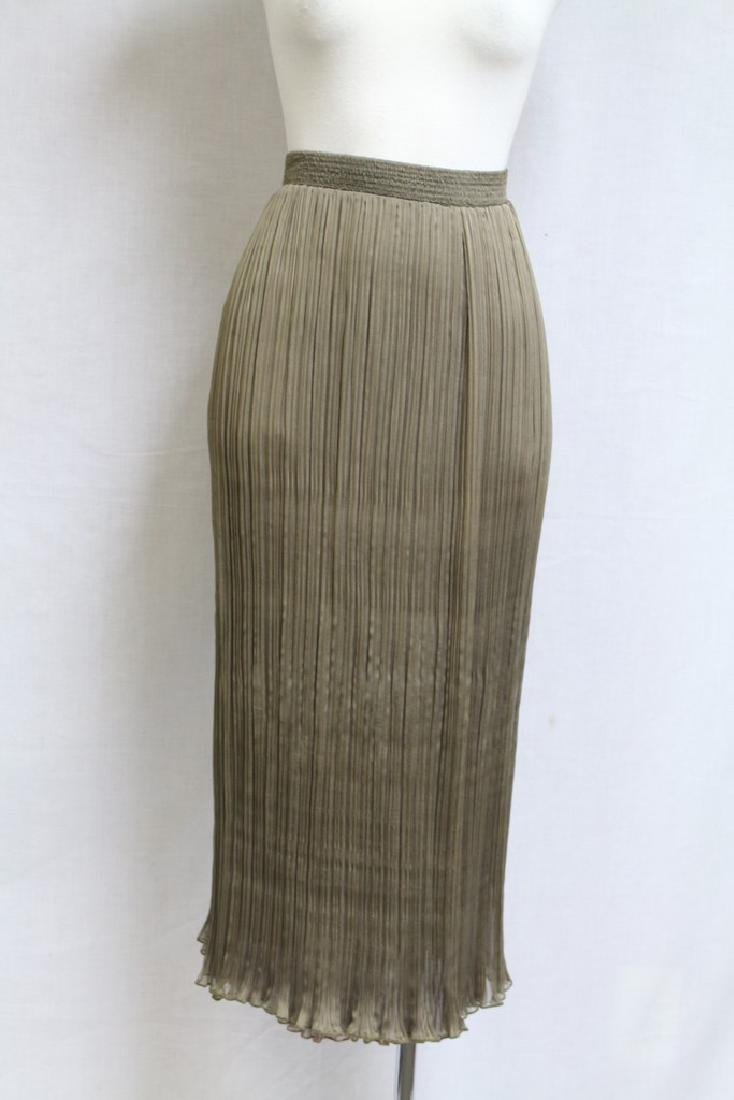 Vintage 1990s Barabas and Covey Silk Pleated Skirt