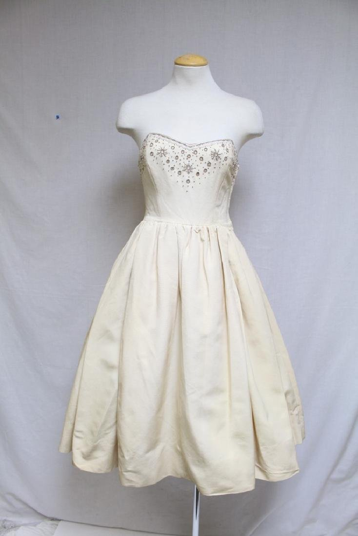 Vintage 1950s Anne Fogarty Strapless Party Dress