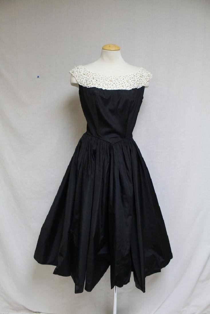 Vintage 1950's Emma Domb Silk Party Dress