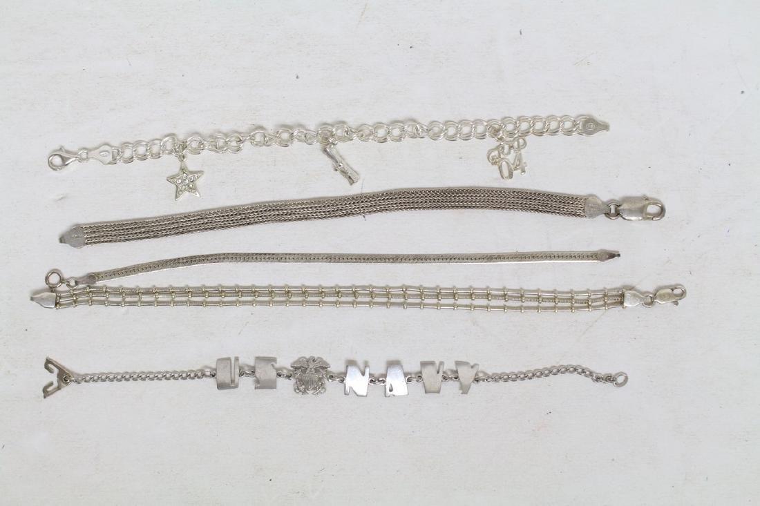 Vintage Sterling Silver Bracelet Lot (5)