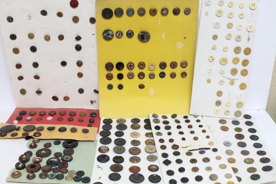 Vintage Lot of Buttons on Boards