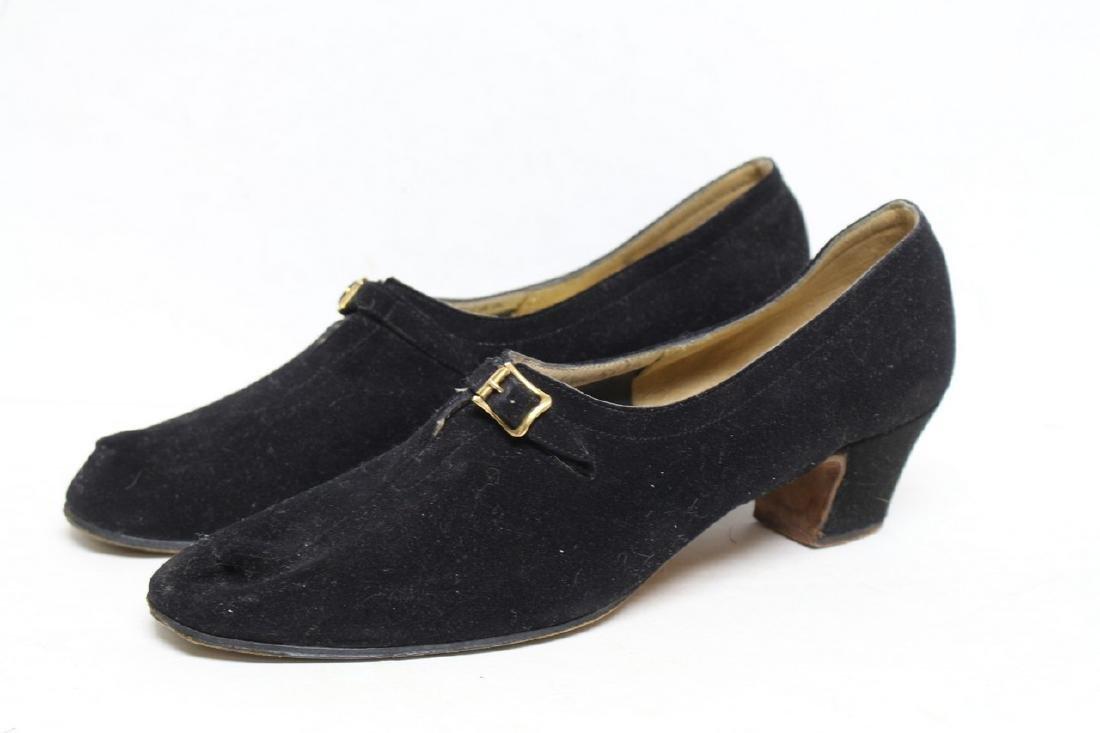 Vintage 1960s Ferragamo Suede Shoes