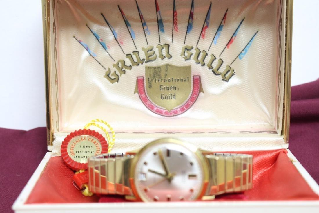 Vintage 1960s Gruen 14K Mens Watch