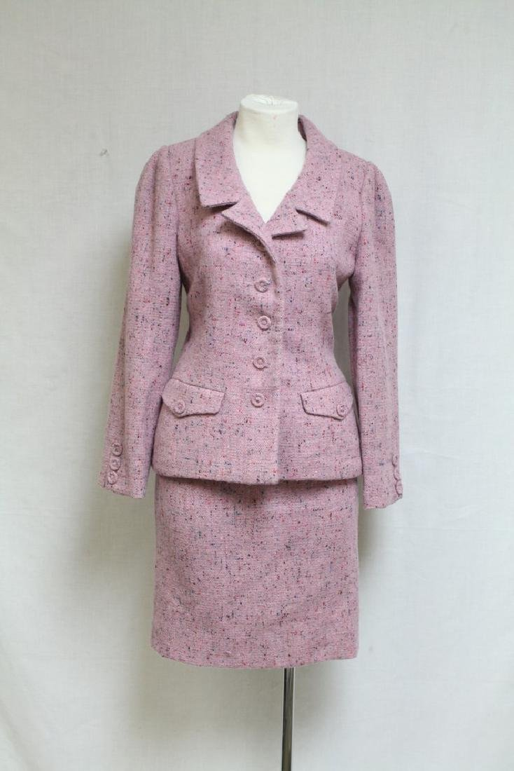 Vintage 1980's Oscar de la Renta Tweed Skirt Suit