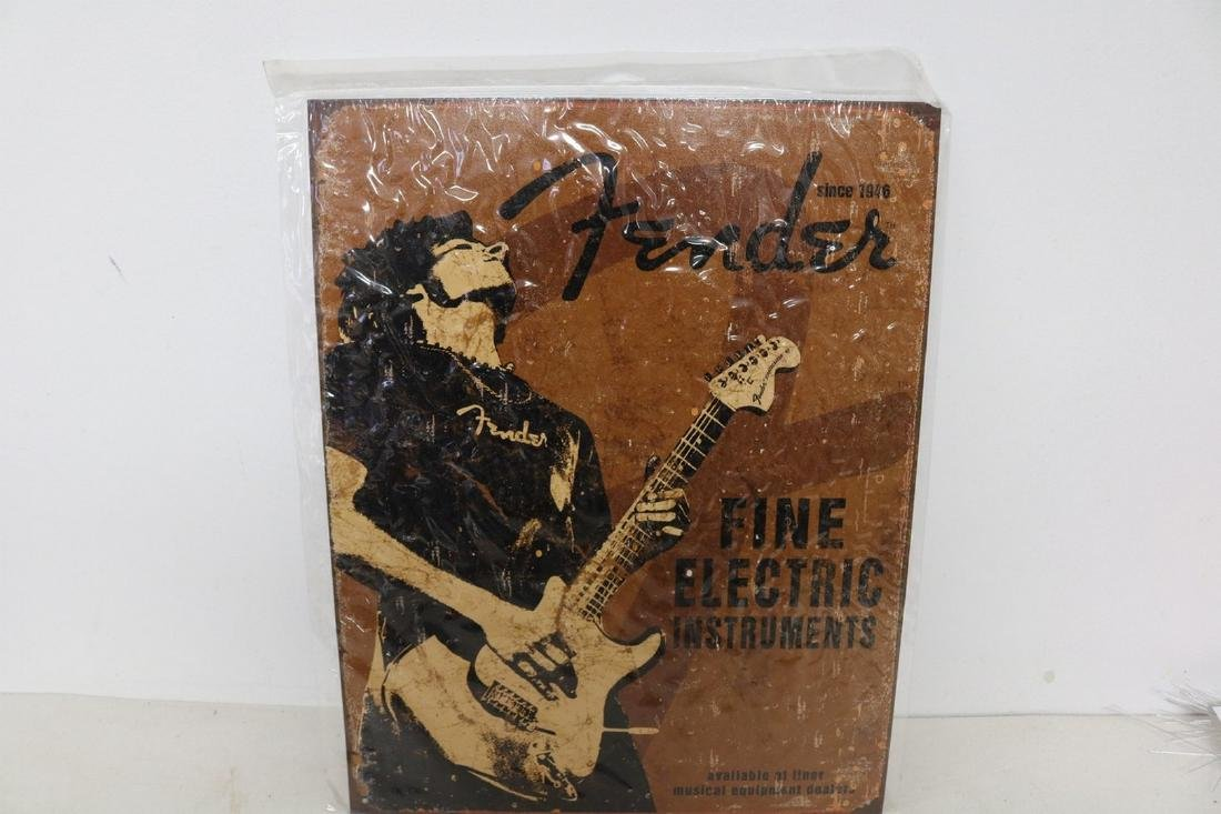 Fender Electric Instruments advertising sign