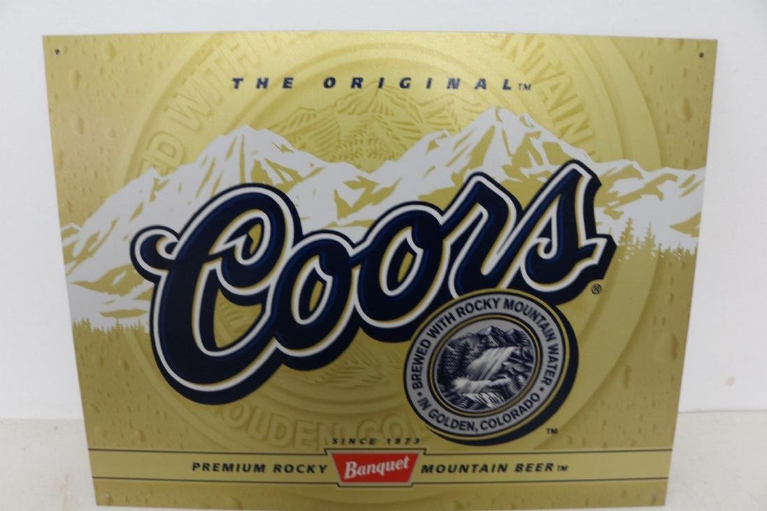 Coors Label, tin Repro Advertising Sign