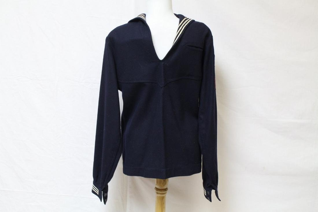 Vintage 1940s Men's Navy Shirt