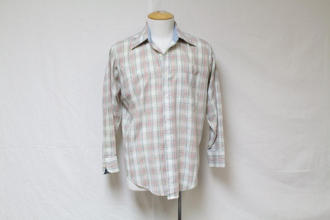 Vintage 1960s Men's Chambray Plaid Shirt
