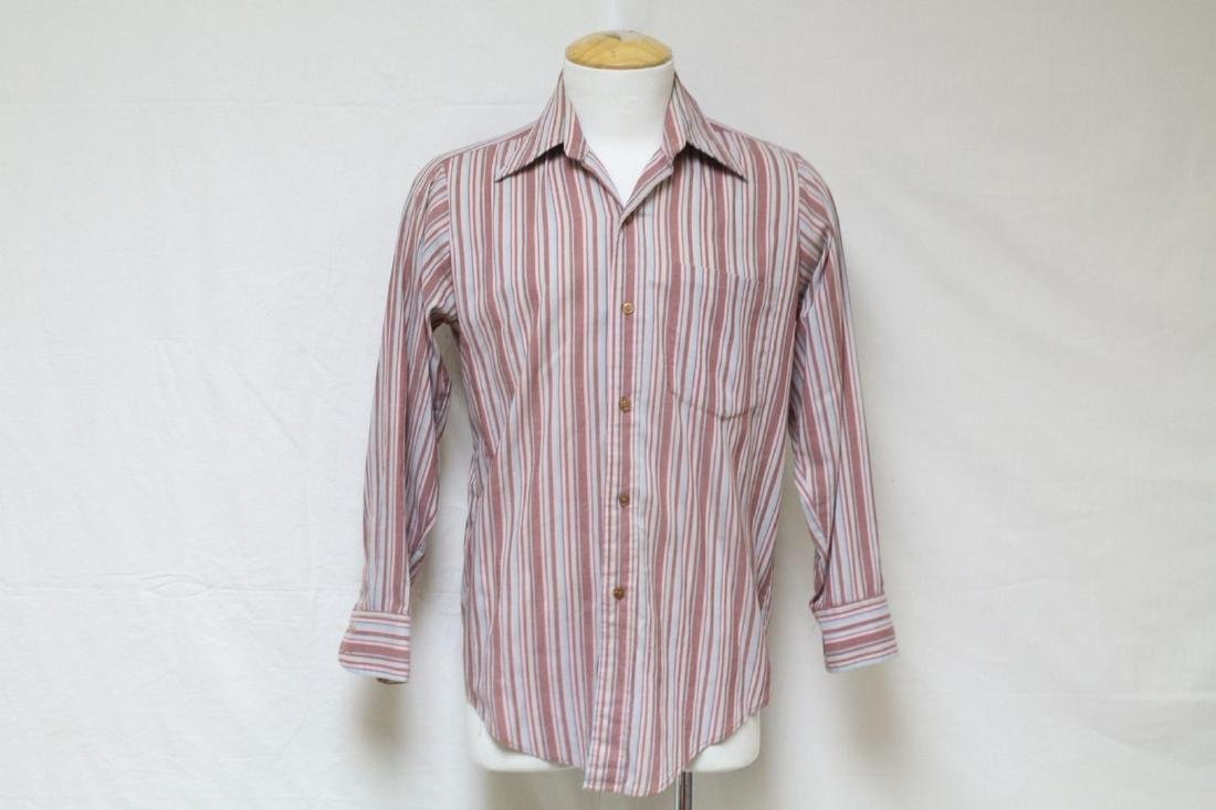 Vintage 1970's Men's Mauve Striped Shirt