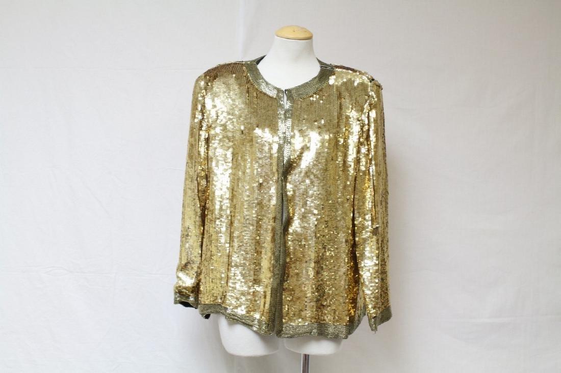 Vintage 1980s Gold Sequined Jacket