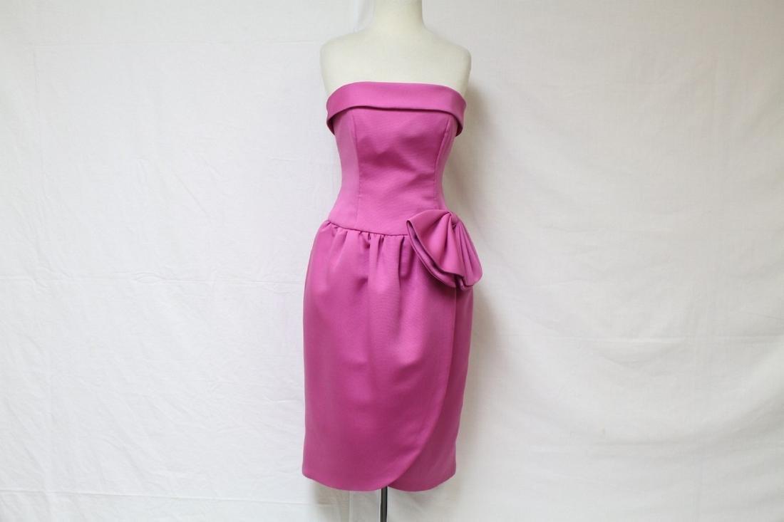 Vintage 1990s Strapless Pink Cocktail Dress