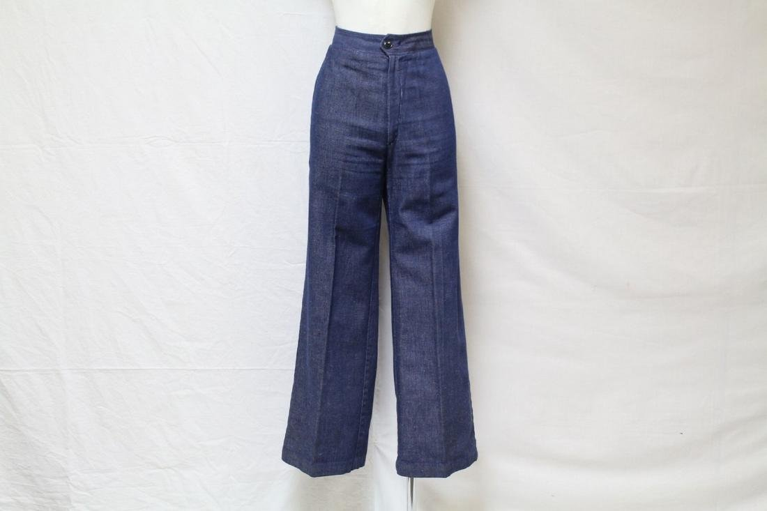 Vintage 1970's Denim Bell Bottoms