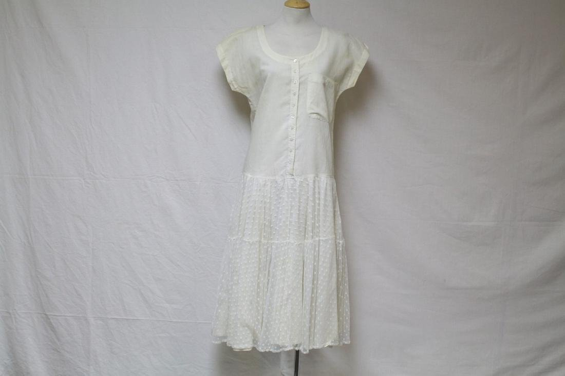 Vintage 1980's Danny Noble Linen & Tulle Dress