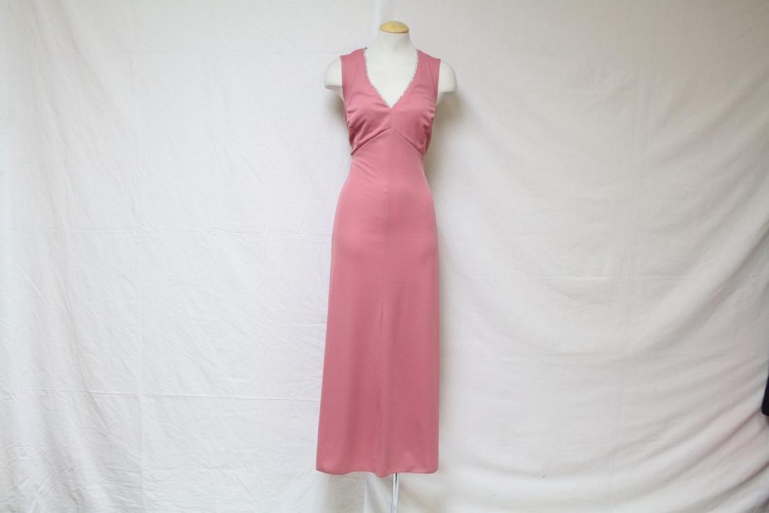 Vintage 1970's Pink Maxi Dress