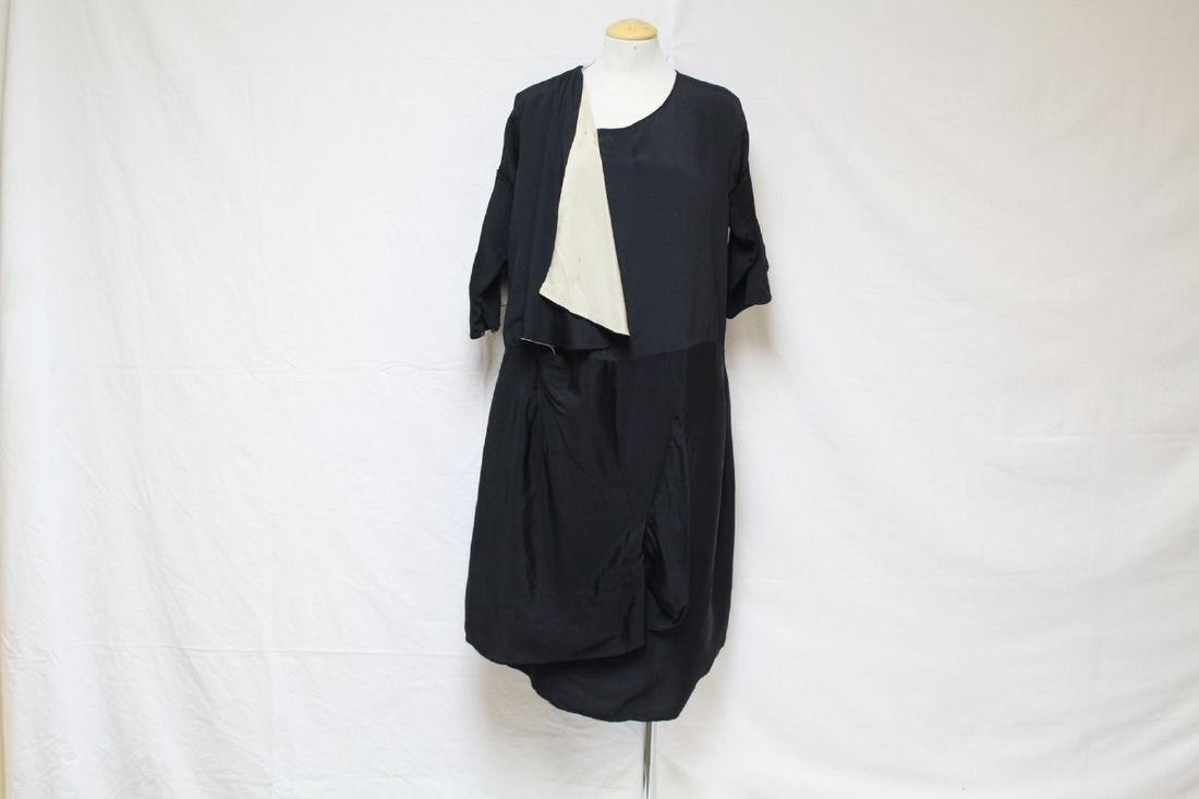 Vintage 1920s Black Silk Dress