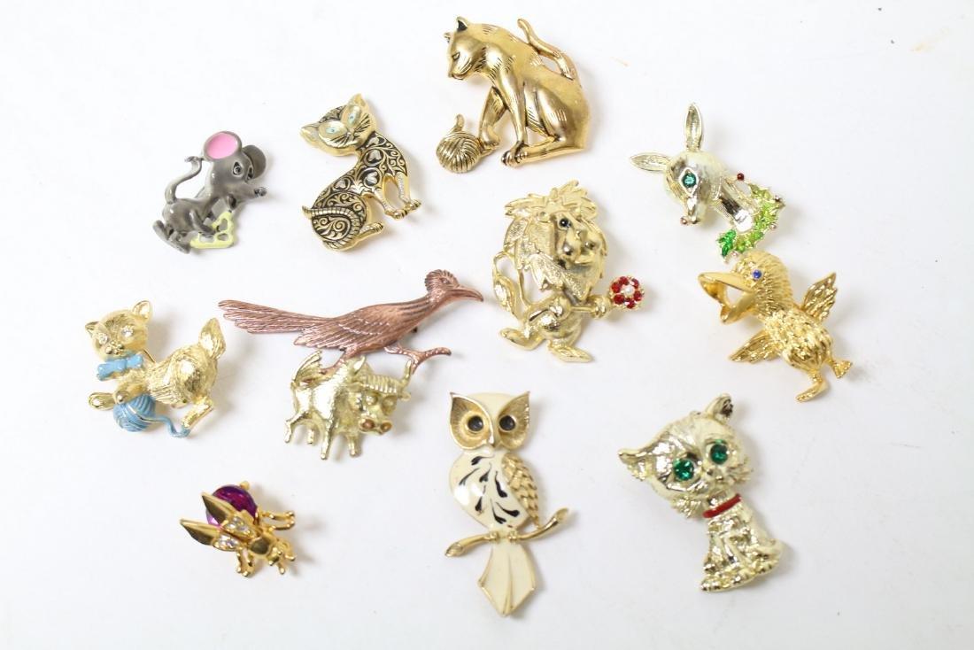 Vintage Animal Brooch Jewelry Lot
