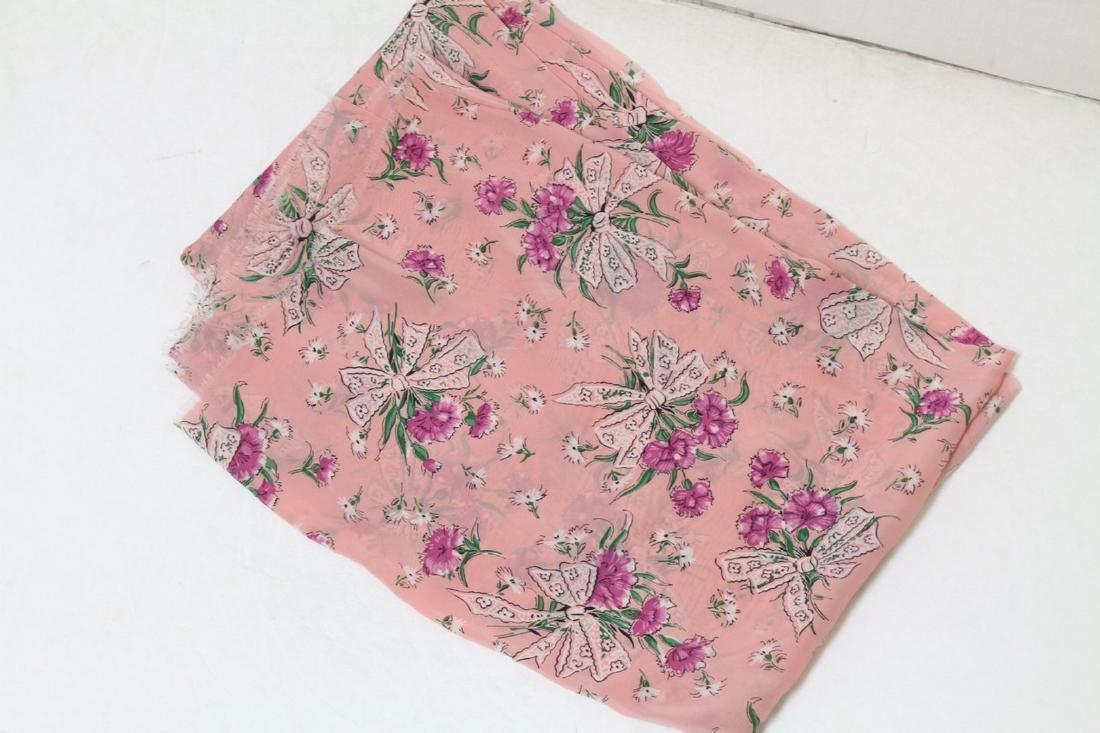 Vintage 1940's Floral Rayon Fabric Yardage