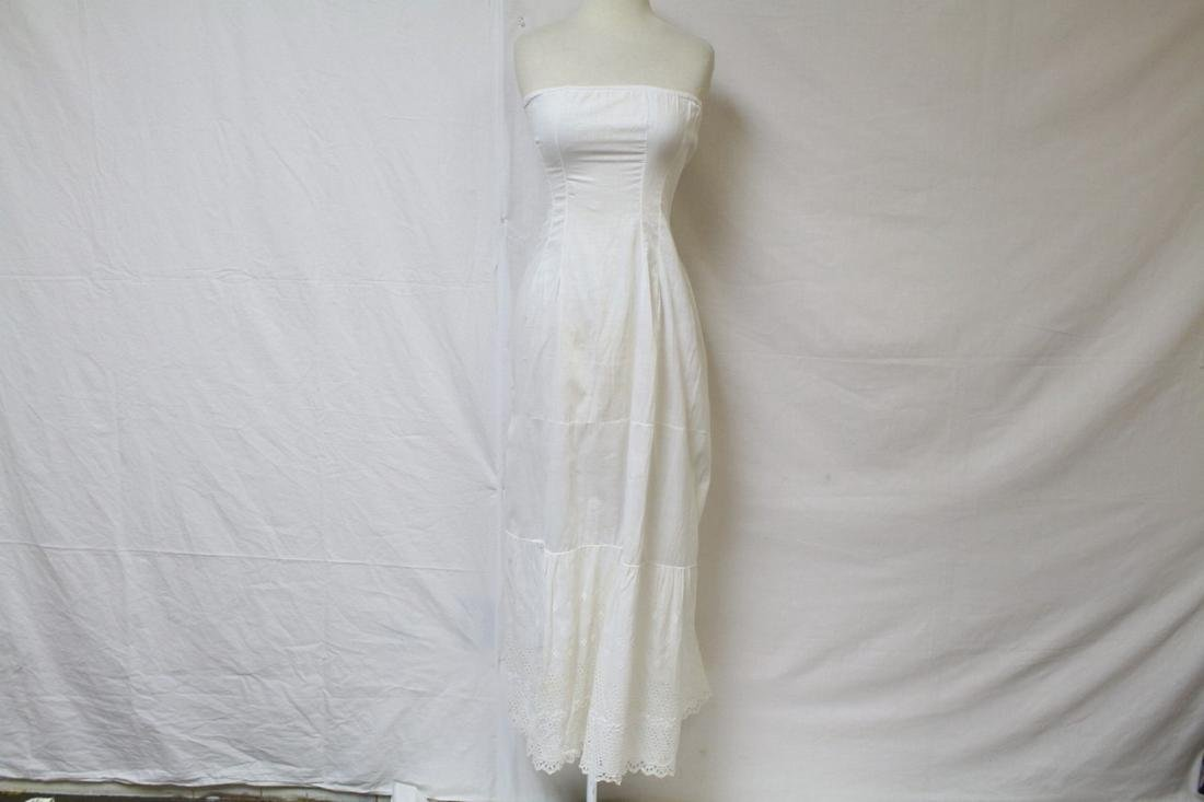 Antique Strapless Cotton Slip