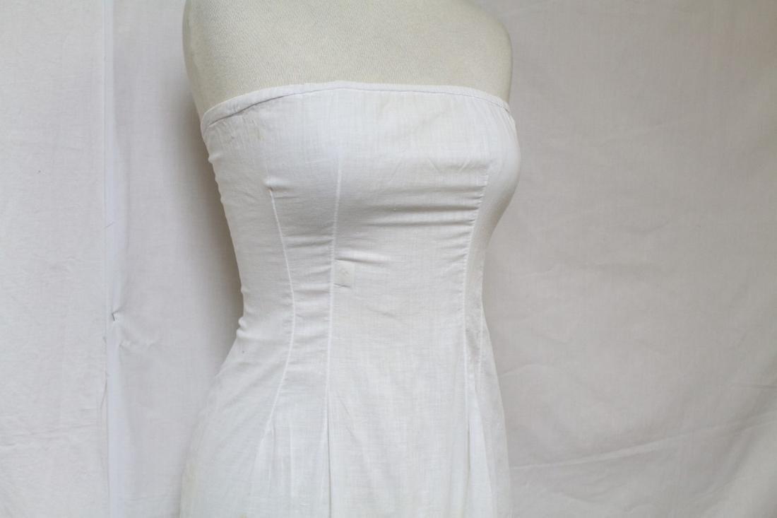 Antique Strapless Cotton Slip - 2